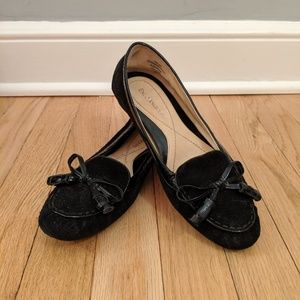 Enzo Angiolini Black Suede Loafers